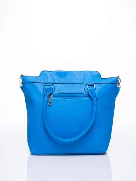 Niebieska torba miejska z odpinanym paskiem                                  zdj.                                  4