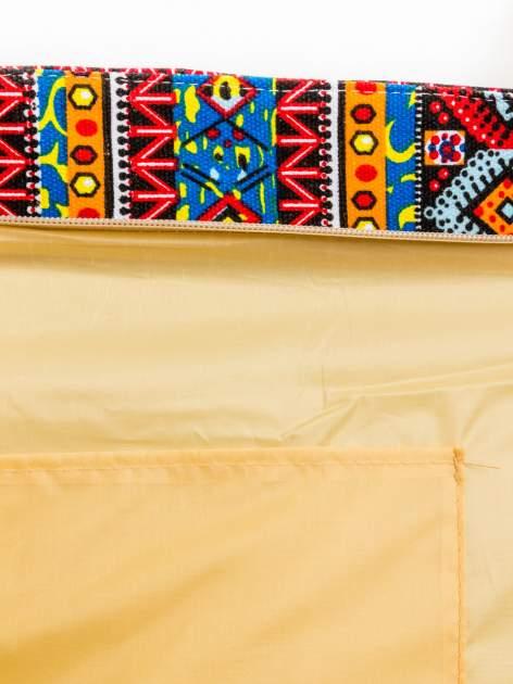 Niebieska torba plażowa w azteckie wzory                                  zdj.                                  9