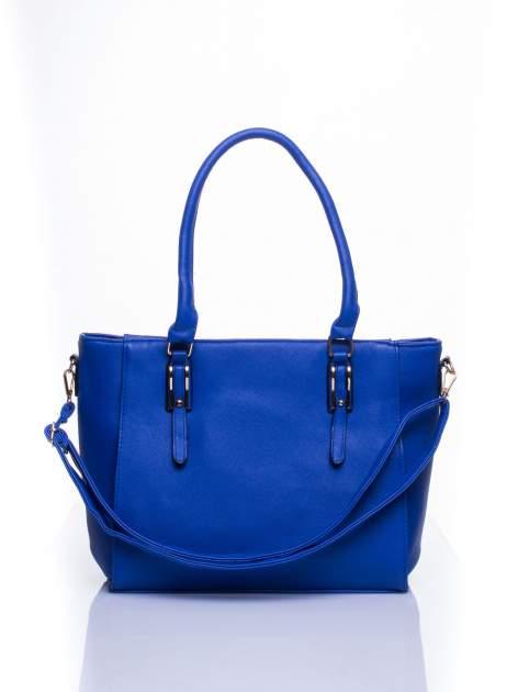 Niebieska torba shopper bag z odpinanym paskiem                                  zdj.                                  1
