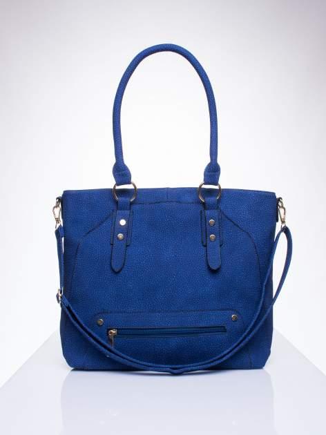 Niebieska torba shopper bag z suwakiem