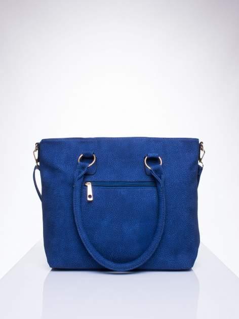 Niebieska torba shopper bag z suwakiem                                  zdj.                                  3