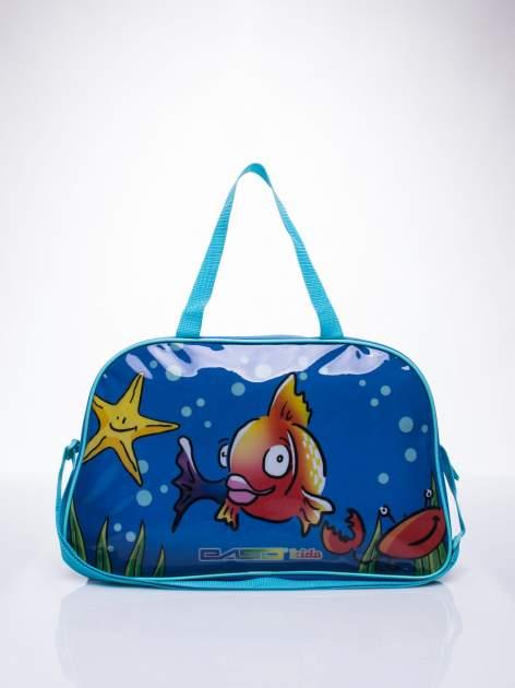 Niebieska torba szkolna DISNEY w rybki                                  zdj.                                  1