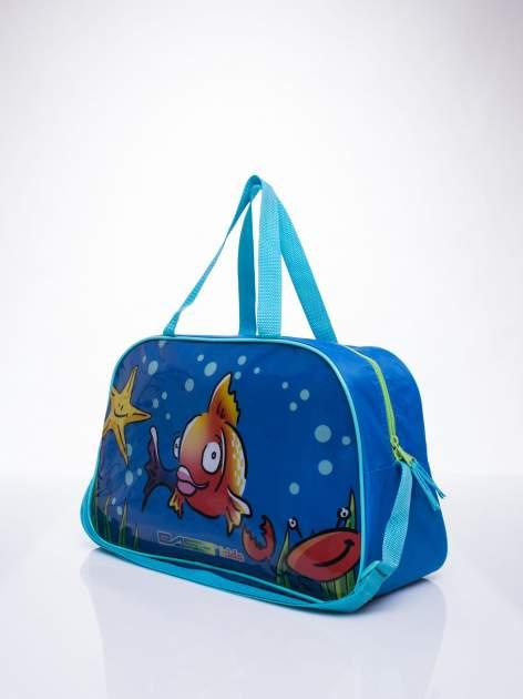Niebieska torba szkolna DISNEY w rybki                                  zdj.                                  2