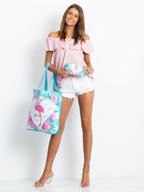 Niebieska torba z flamingiem                              zdj.                              7