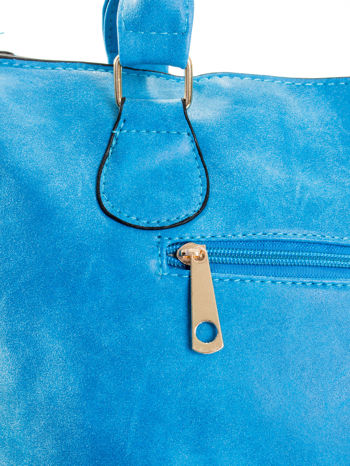 Niebieska torebka miejska                                  zdj.                                  7