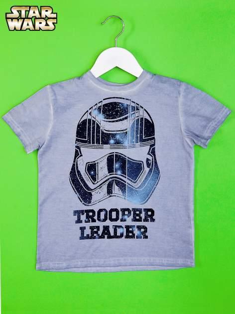 Niebieski dekatyzowany t-shirt chłopięcy STAR WARS                                  zdj.                                  1