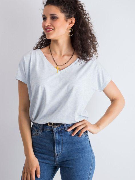 Niebieski melanżowy t-shirt Emory