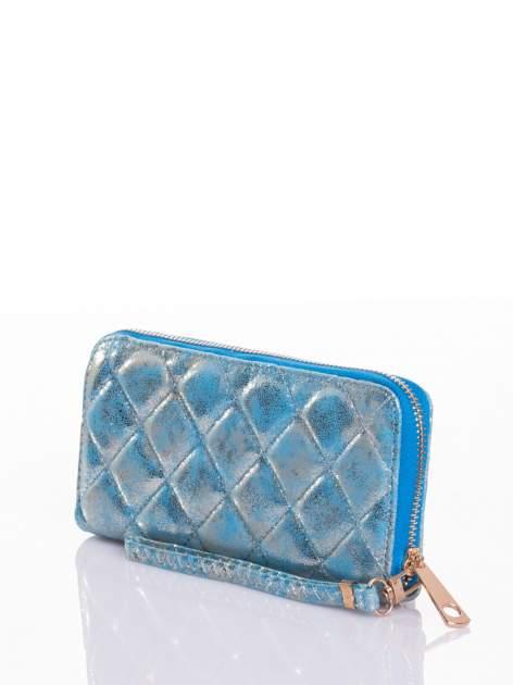 Niebieski pikowany portfel                                  zdj.                                  5