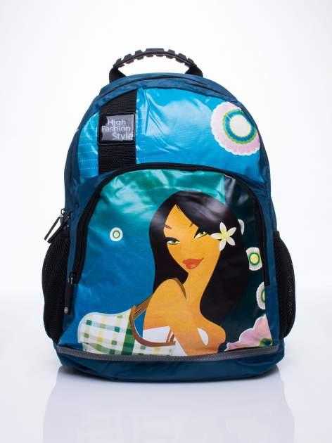 Niebieski plecak szkolny DISNEY Mulan