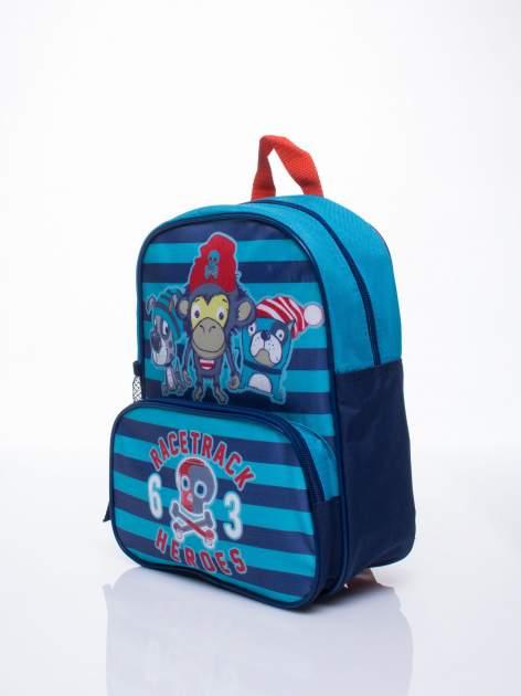 Niebieski plecak szkolny DISNEY w paski                                  zdj.                                  2