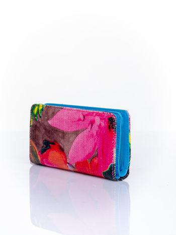 Niebieski portfel z egzotycznym nadrukiem                                  zdj.                                  3