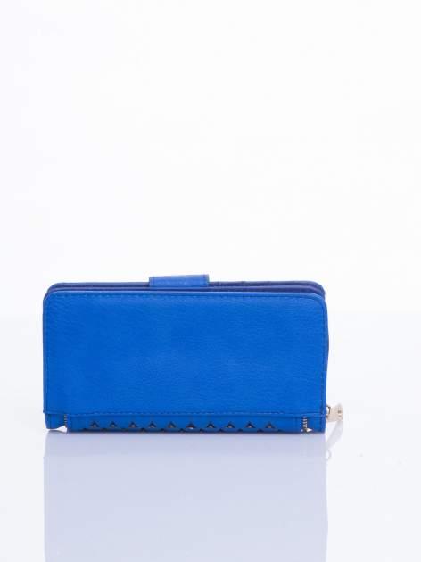 Niebieski portfel ze złotym detalem V                                  zdj.                                  3