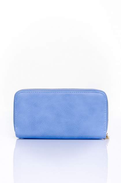 Niebieski portfel ze złotym zapięciem                                  zdj.                                  2