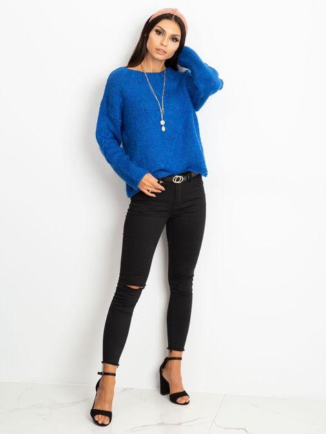 Niebieski sweter Tiffany                              zdj.                              4