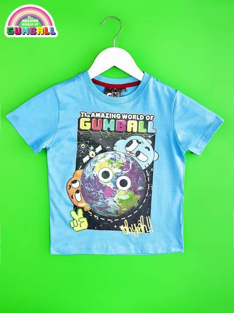 Niebieski t-shirt chłopięcy GUMBALL                                  zdj.                                  1