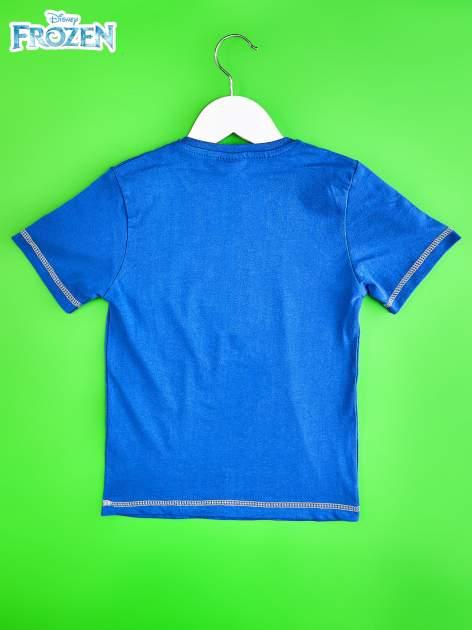 Niebieski t-shirt chłopięcy KRAINA LODU                                  zdj.                                  2