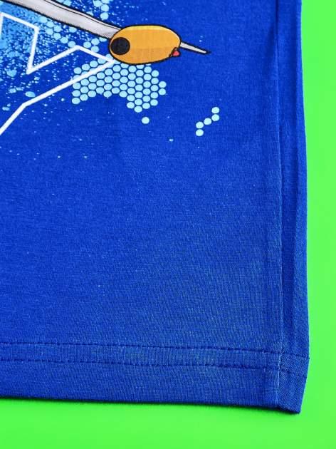 Niebieski t-shirt chłopięcy SAMOLOTY                                  zdj.                                  5