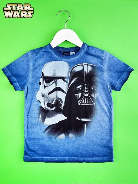 Niebieski t-shirt chłopięcy STAR WARS                                  zdj.                                  1