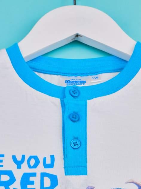 Niebieski t-shirt chłopięcy UNIWERSYTET POTWORNY                                  zdj.                                  3