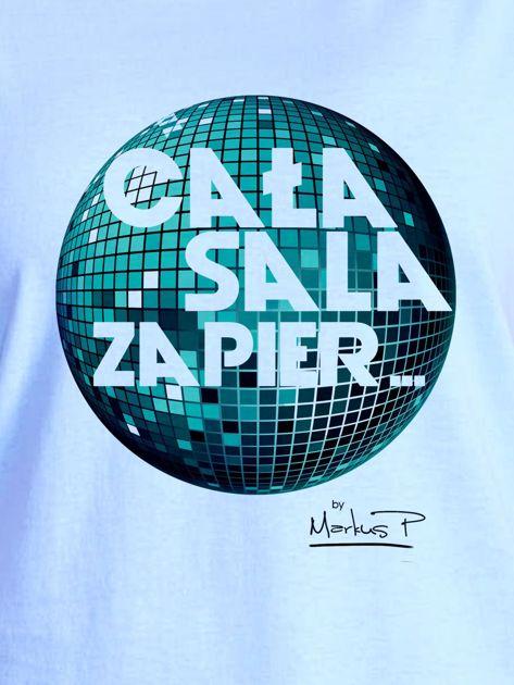 Niebieski t-shirt damski CAŁA SALA by Markus P                                  zdj.                                  2
