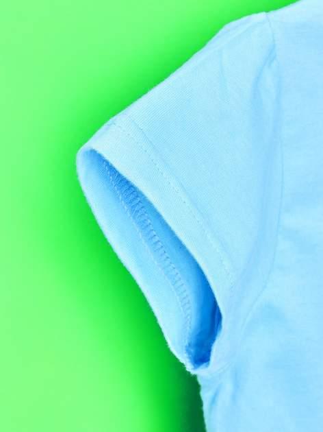 Niebieski t-shirt dla dziewczynki z nadrukiem MY LITTLE PONY                                   zdj.                                  5
