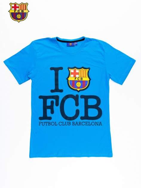 Niebieski t-shirt męski FC BARCELONA                                  zdj.                                  9
