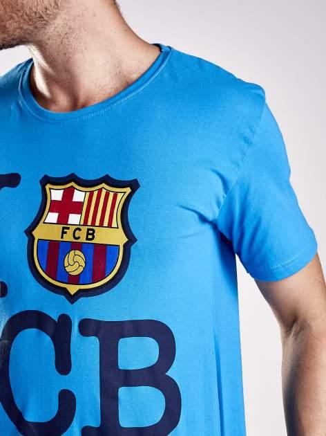 Niebieski t-shirt męski FC BARCELONA                                  zdj.                                  6