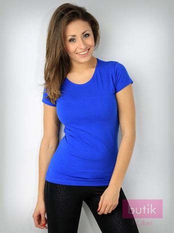 Niebieski t-shirt z bawełny For Fitness