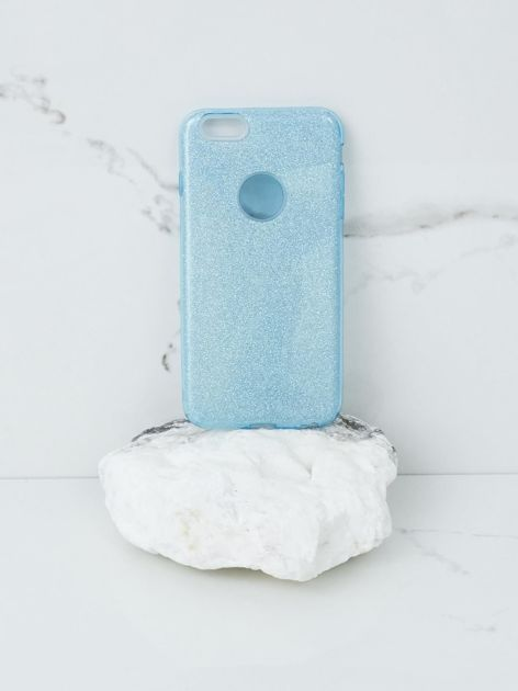 Niebieskie brokatowe etui do iPhone 6G Plus