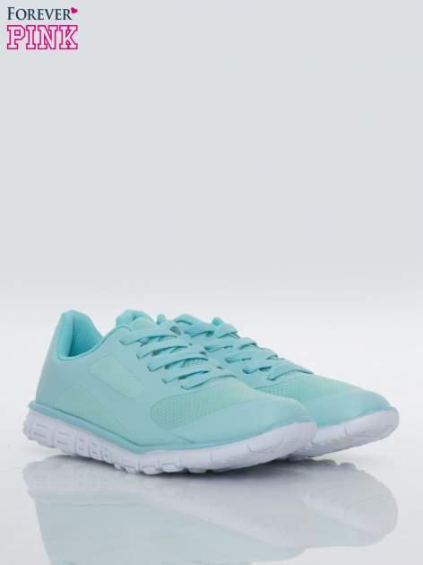 Niebieskie buty sportowe damskie z podeszwą z rowkami flex                                  zdj.                                  2