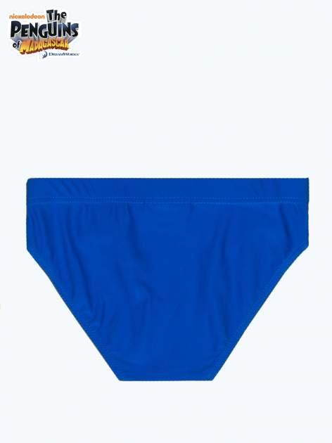 Niebieskie chłopięce kąpielówki PINGWINY Z MADAGASKARU                                  zdj.                                  2