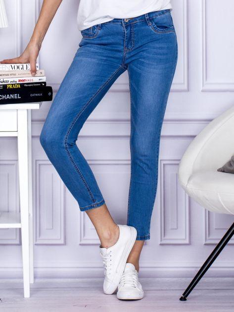 Niebieskie gładkie jeansy regular PLUS SIZE                                  zdj.                                  1