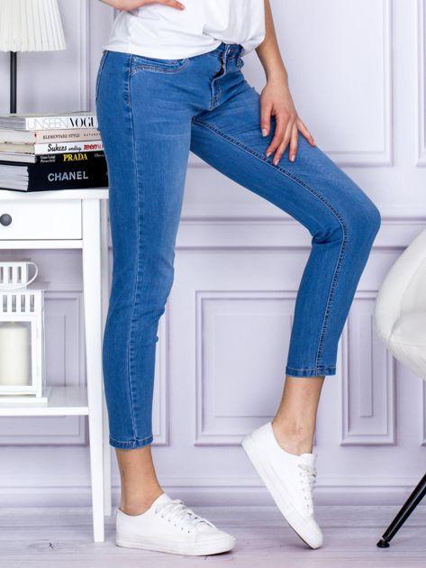 Niebieskie gładkie jeansy regular PLUS SIZE                                  zdj.                                  5
