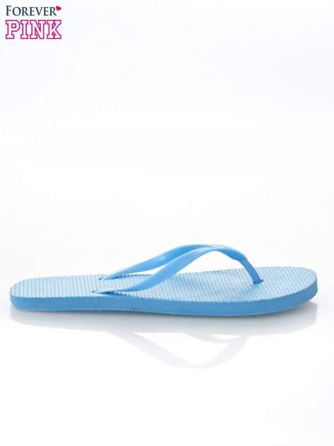 Niebieskie gumowe japonki damskie