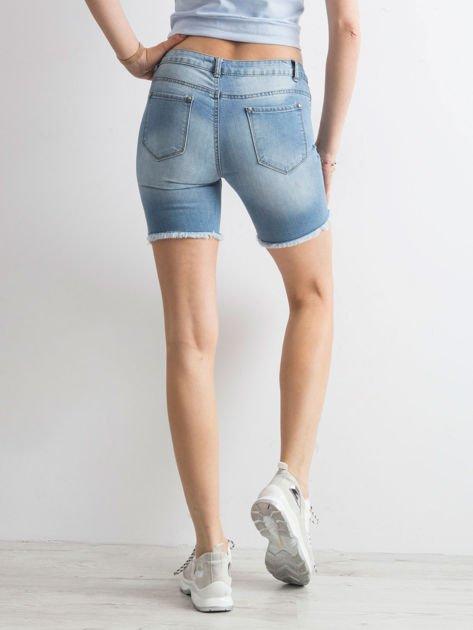 Niebieskie jeansowe bermudy                              zdj.                              2
