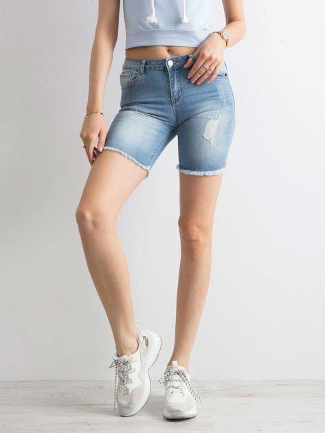 Niebieskie jeansowe bermudy                              zdj.                              5