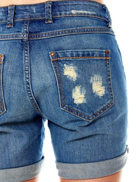 Niebieskie jeansowe szorty z podwijanymi nogawkami                                  zdj.                                  5