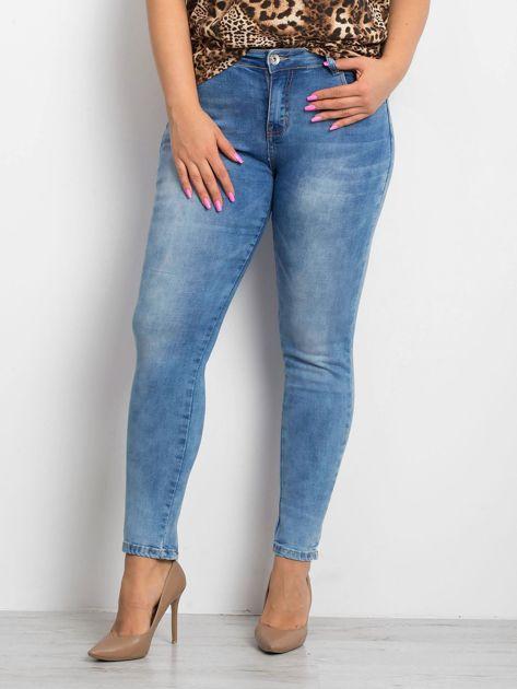 Niebieskie jeansy PLUS SIZE Pointelle                              zdj.                              1