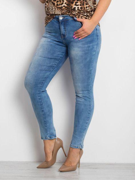 Niebieskie jeansy PLUS SIZE Pointelle                              zdj.                              3