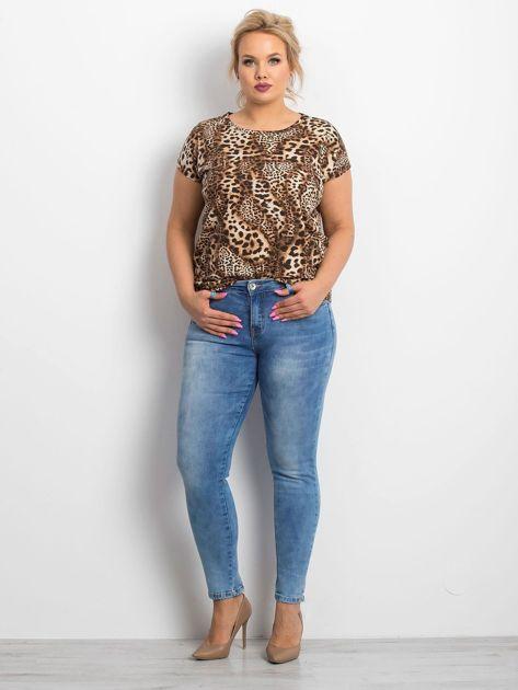 Niebieskie jeansy PLUS SIZE Pointelle                              zdj.                              4