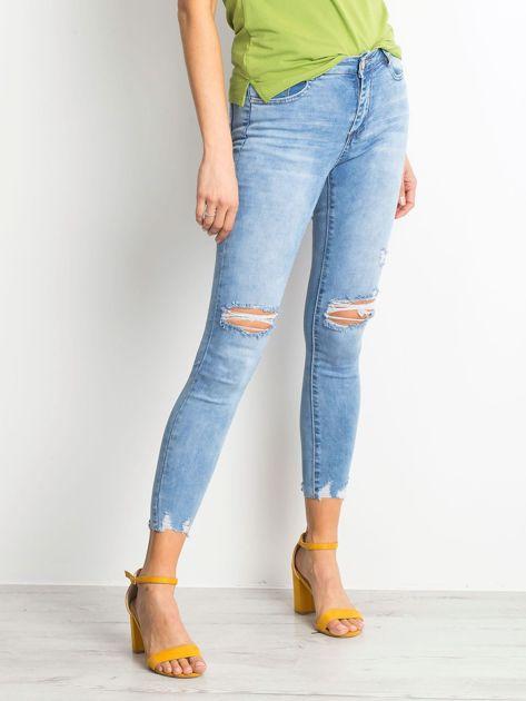 Niebieskie jeansy Withstand                              zdj.                              3