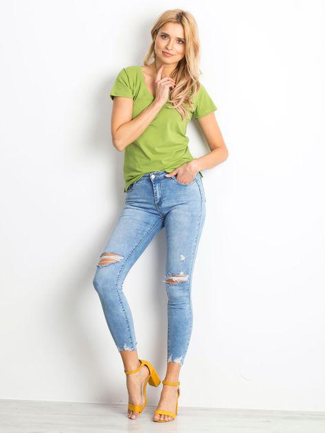 Niebieskie jeansy Withstand                              zdj.                              4