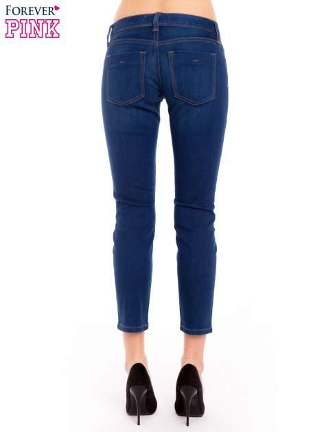 Niebieskie jeansy skinny ze średnim stanem                                  zdj.                                  4