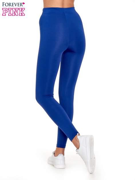 Niebieskie legginsy basic z lekkim ociepleniem                                  zdj.                                  4