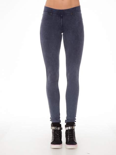 Niebieskie legginsy typu jegginsy                                  zdj.                                  1
