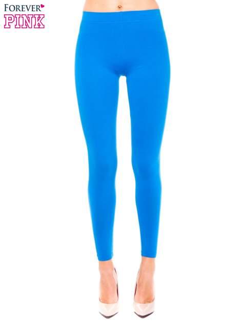 Niebieskie legginsy z bawełny