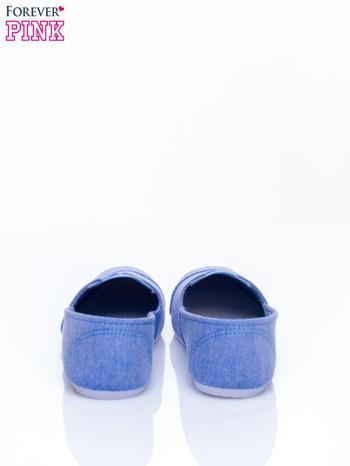 Niebieskie lekkie buty slip on                                  zdj.                                  5