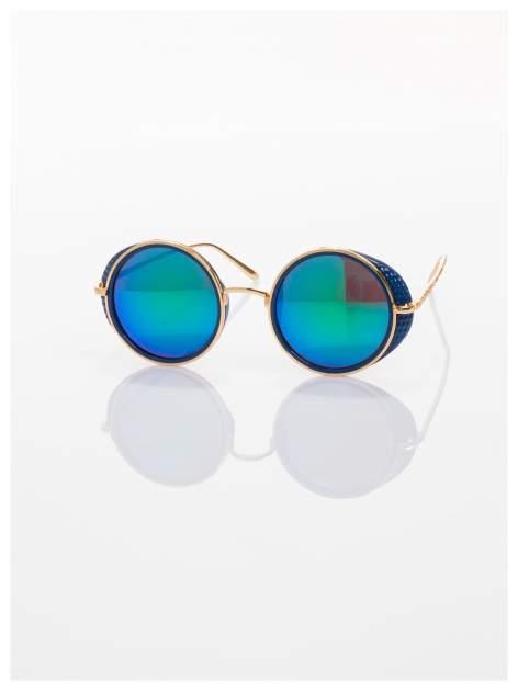 """Niebieskie lustrzanki okulary przeciwsłoneczne """"LENONKI"""" w stylu RETRO                                   zdj.                                  2"""
