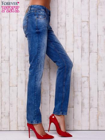 Niebieskie spodnie jeansowe marble denim                                  zdj.                                  2