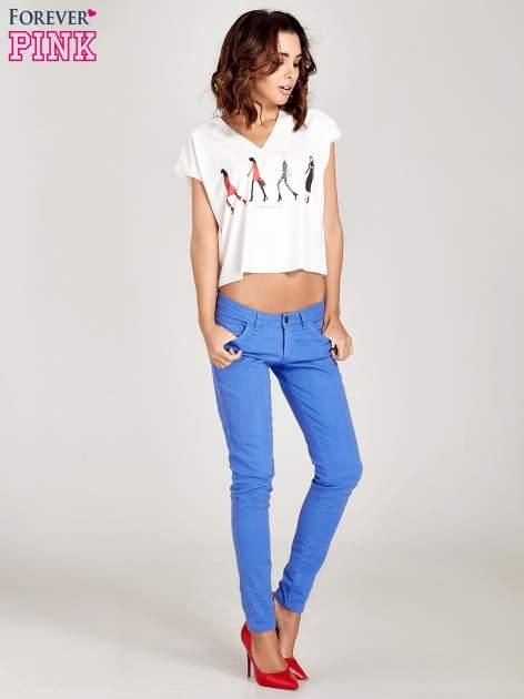 Niebieskie spodnie jeansowe rurki                                  zdj.                                  7